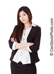 Confident business executive woman