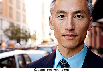 Confident Business Man - A successful business man in a ...