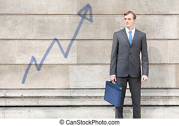 Confident business man - A very confident business man in a...