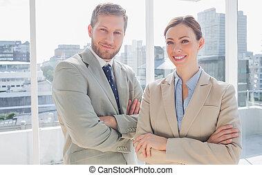 Confident business partners