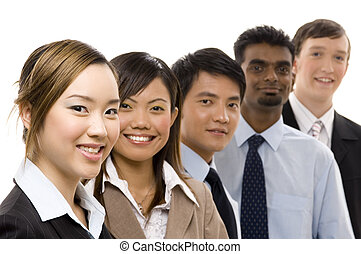 Confident Business Team 2 - A confident and diverse group of...