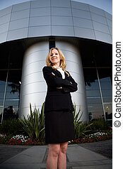 Confident business woman - Attractive blond business woman ...