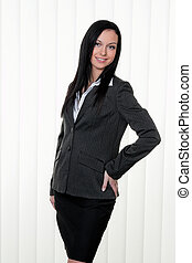 Confident business woman in business attire