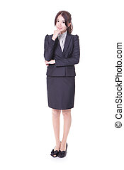 confident business woman in full length