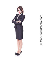 confident business woman smile face
