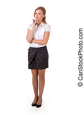Confident business woman standing full length