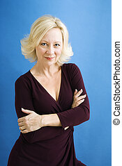 Confident business woman - Studio portrait of attractive...