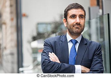 Arab Businessman With Arms Crossed Stock Photo Csp14043007