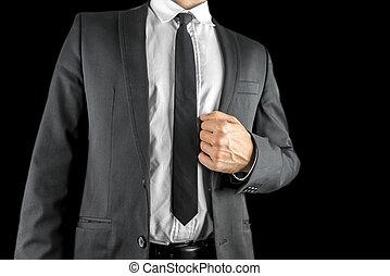 Confident businessman in a suit