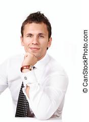 Confident businessman - Confident young businessman a...