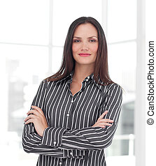 Confident Businesswoman looking at camera - Young Confident...