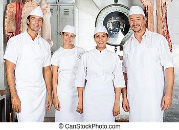 Confident Butchers In Butchery