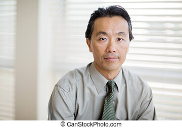 Confident Cancer Specialist In Shirt And Tie - Portrait of...