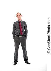 Confident casual businessman