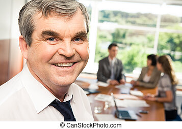 Confident chief - Photo of confident older chief smiling in...