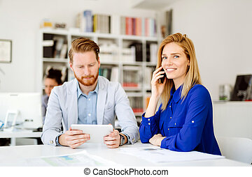 Confident company ceo at meeting