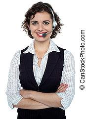 Confident customer care executive - Cheerful young executive...