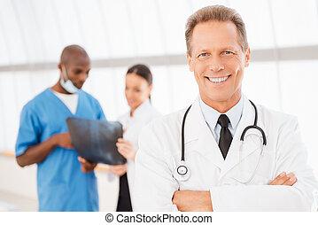 Confident doctor.