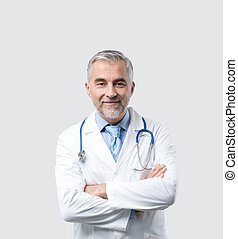 Confident doctor posing