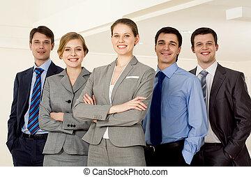 Confident employer - Portrait of successful businesswoman...