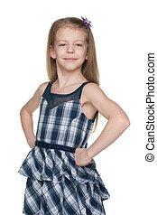 Confident fashion little girl