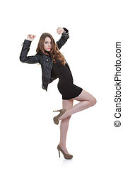 confident fashion teen posing