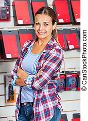Confident Female Customer In Hardware Store