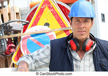 Confident foreman