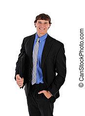 Confident Handsome Young Businessman Portrait