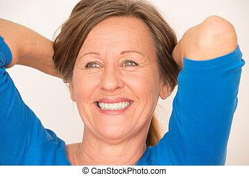 Confident happy mature woman portrait