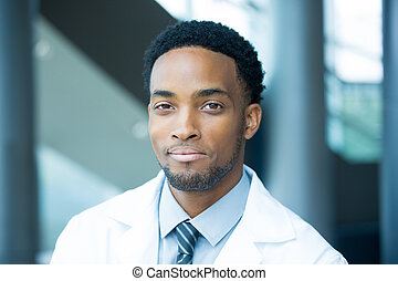 Confident headshot healthcare professional - Closeup...