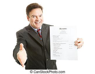 Confident Job Applicant - Confident businessman, ready with...