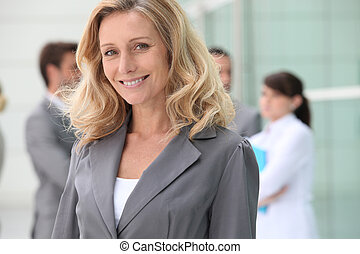 Confident mature businesswoman