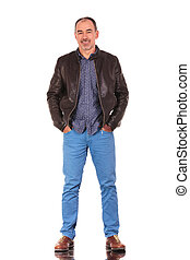 confident mature man standing