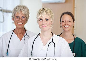 Confident Medical Team Of Female Doctors