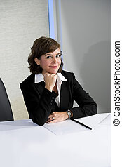 Confident mid-adult businesswoman