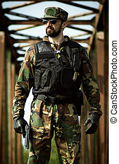 confident military man