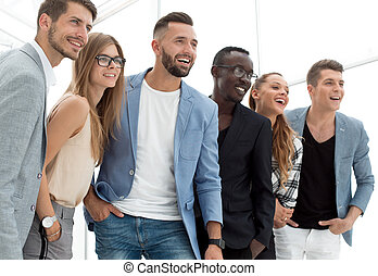 confident multiethnic business people in office