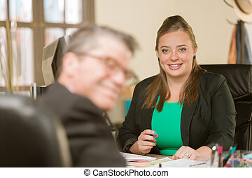 Confident Professional Woman with Braces Smiling