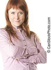 Confident redhead