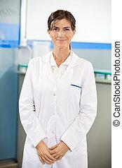 Confident Researcher In Laboratory
