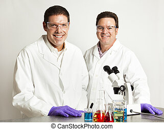 Confident Smiling Scientists