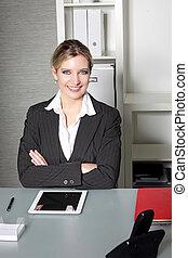 Confident successful businesswoman