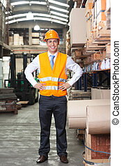 Confident Supervisor at Warehouse