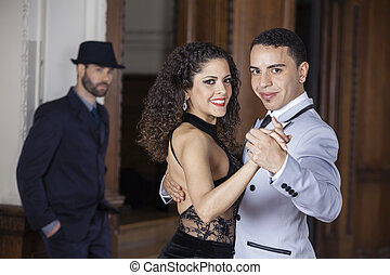 Confident Tango Dancers Performing