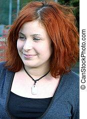 Confident Teen Portr - Portrait of a confident teenage girl,...