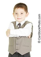 Confident tidy kid