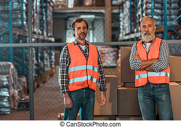 confident warehouse workers