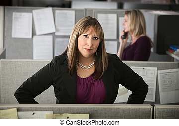 Confident Woman at Work