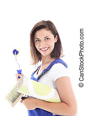 Confident woman decorator